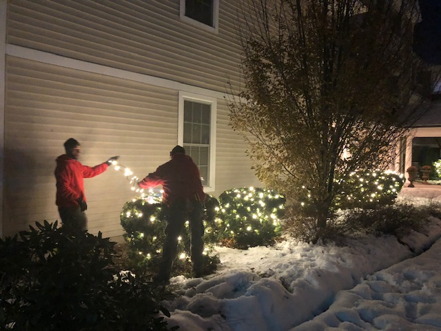 Eddie & Keo installing some Mini Lights in Tewksbury, MA