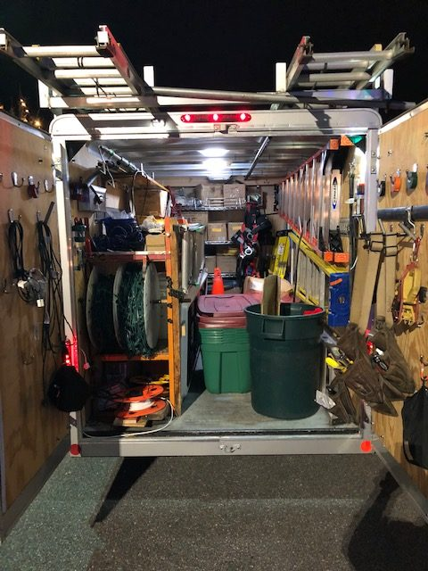 Our trailer is fully equipped and has every accessory to get the job done right)
